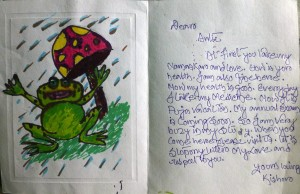 Kishore letter & drawing Oct 2014
